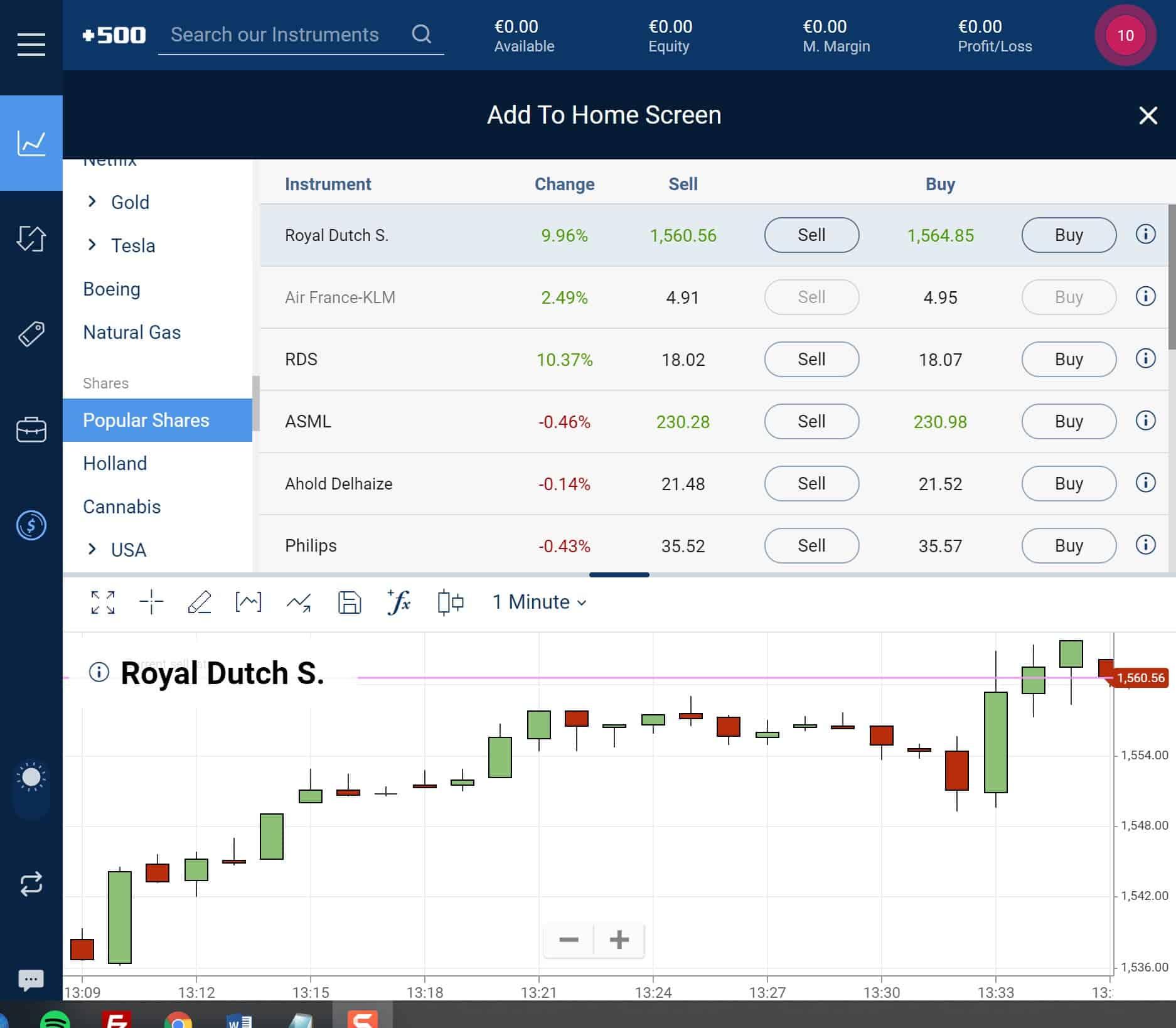 Plus500 stock platform